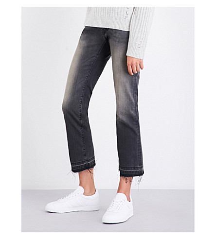 NILI LOTAN Boyfriend-fit straight mid-rise jeans (Smoke+wash