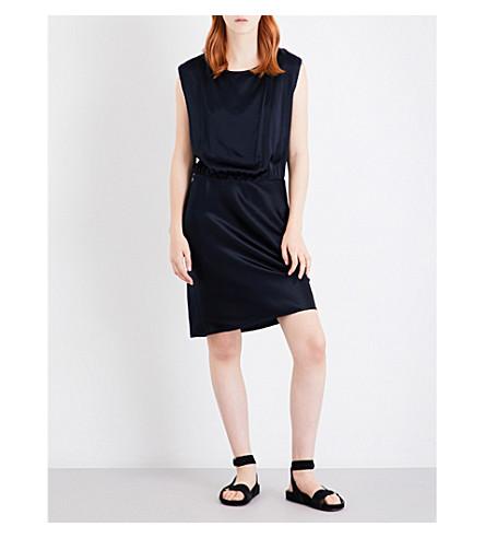 NILI LOTAN Eva sleeveless silk dress (Dark+navy