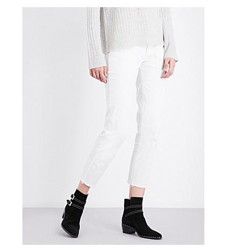 NILI LOTAN Jenna stretch-cotton trousers (Eggshell