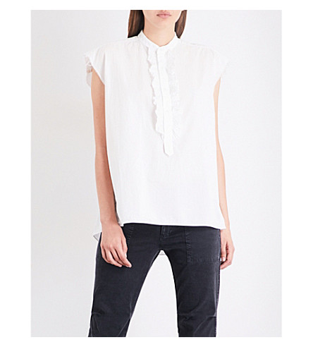 NILI LOTAN Charlton cotton-poplin shirt (White