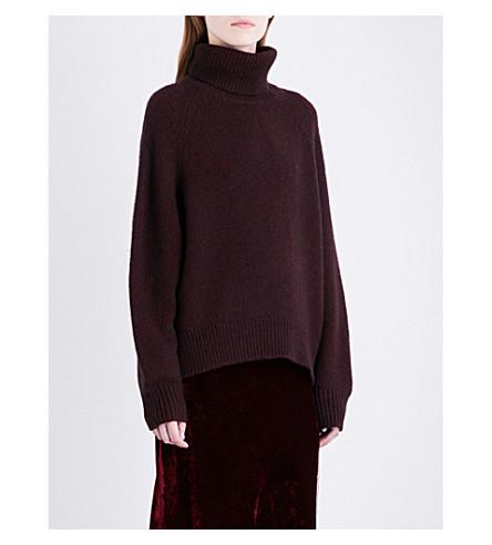 NILI LOTAN Quinn turtleneck wool-blend jumper (Burgandy