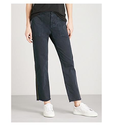 NILI LOTAN Jenna cropped mid-rise jeans (Dark+navy