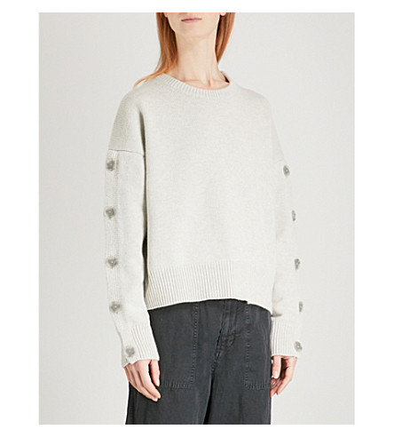 NILI LOTAN Martina wool and cashmere-blend jumper (Light+grey+melage