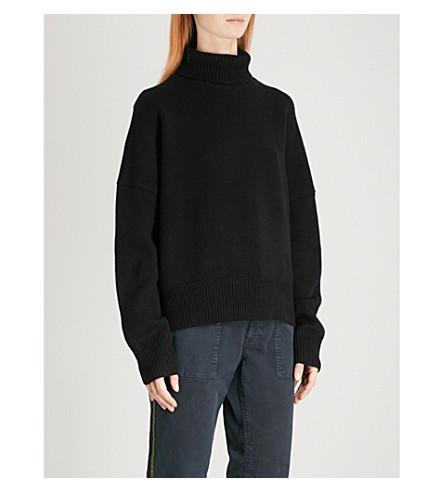 NILI LOTAN Serinda wool and cashmere-blend jumper (Black