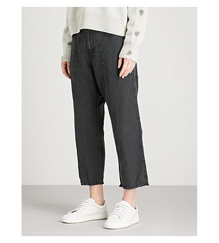 NILI LOTAN Luna wide-leg mid-rise jeans (Black