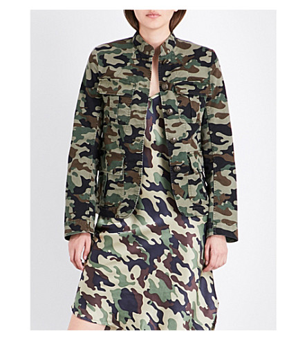 NILI LOTAN Camdre camouflage-print stretch-cotton jacket (Light+green+camouflage