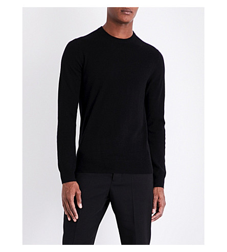 JOE FRESH Crewneck cashmere knitted jumper (Black