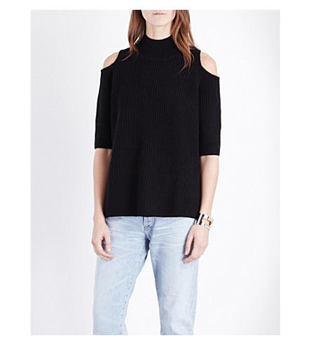 ZOE JORDAN Gondola wool and cashmere-blend jumper (Black