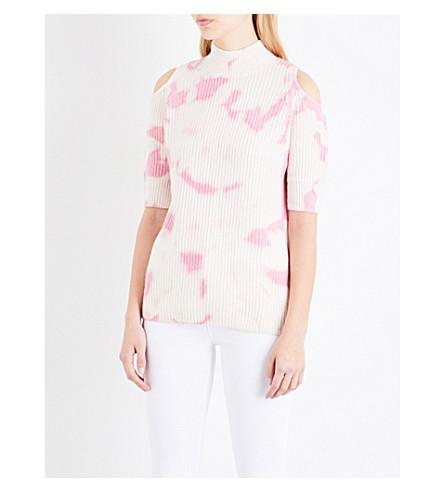 ZOE JORDAN Gondola wool and cashmere-blend jumper (White+flamingo