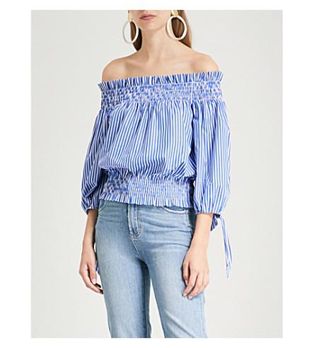 CAROLINE striped CONSTAS CAROLINE Blue top cotton Lou CONSTAS wCfqHw
