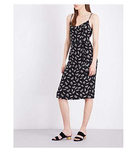 HVN Lily leopard-print silk-satin slip dress (Leopard+print