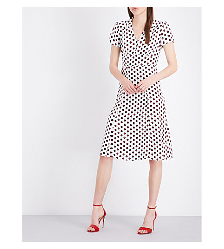 HVN Morgan vinyl-print silk-crepe de chine dress (Vinyl print