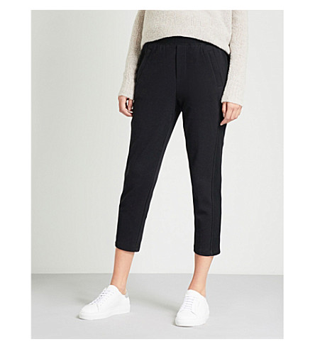 JAMES PERSE Relaxed-fit stretch-cotton jogging bottoms (Black
