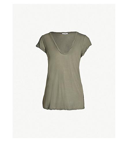 JAMES PERSE V-neck cotton-jersey T-shirt (Artillery