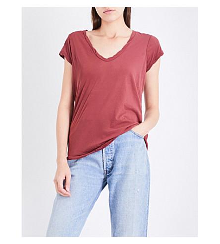 JAMES PERSE V-neck cotton-jersey T-shirt (Auburn