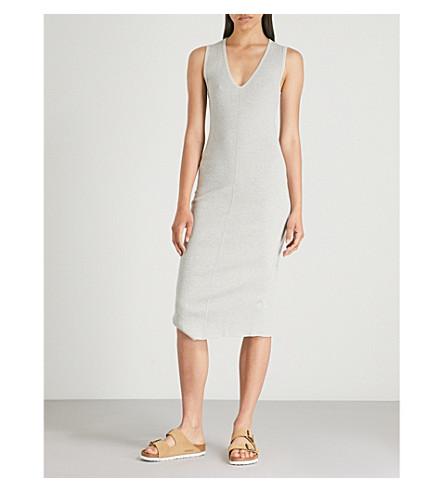 jaspeado algodón elástico JAMES pálido de Vestido a acanalado pierna PERSE gris media ZO7qAwv
