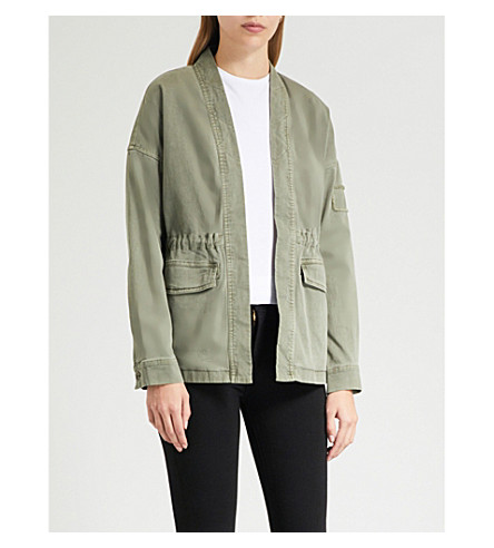 JAMES PERSE Faded-wash stretch-cotton jacket (Leaf pigment