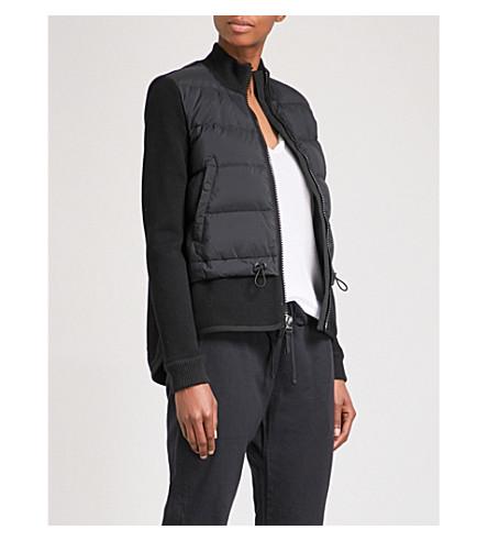 JAMES PERSE Mixed Media shell-down puffer jacket (Black/navy