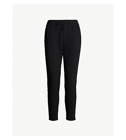 JAMES PERSE Straight high-rise cotton-blend jogging bottoms (Black