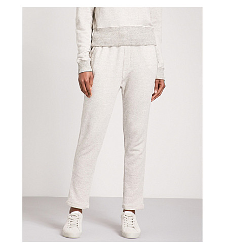 JAMES PERSE Straight high-rise cotton-blend jogging bottoms (Htom/htom