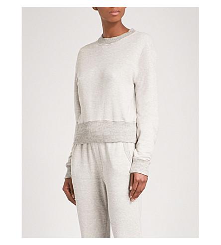 JAMES PERSE Contrast-trim cotton-blend sweatshirt (Htom/htom