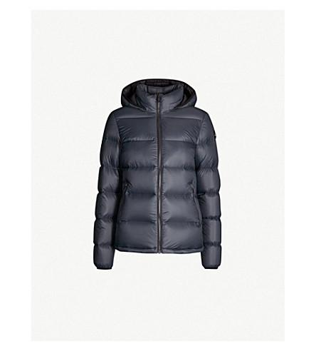 MOOSE KNUCKLES Govan hooded shell-down puffer jacket (Artic+navy