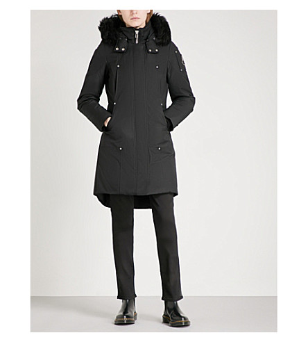 MOOSE KNUCKLES Stirling cotton-blend parka coat (Black/noir