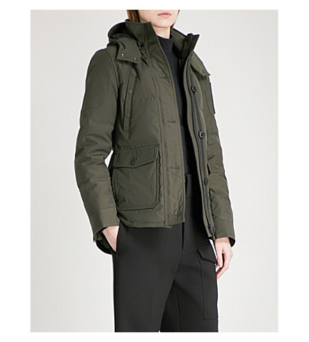 MOOSE KNUCKLES Quebec hooded shell-down puffer jacket (Canadian+army