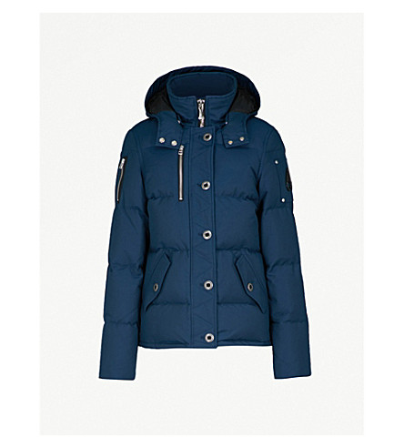 MOOSE KNUCKLES 3Q cotton-blend down puffer jacket (Jasper blue