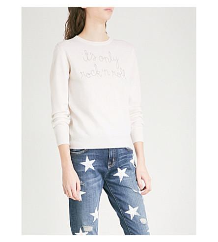 LINGUA FRANCA Science Not Fiction cashmere jumper (Ivory+and+mauve