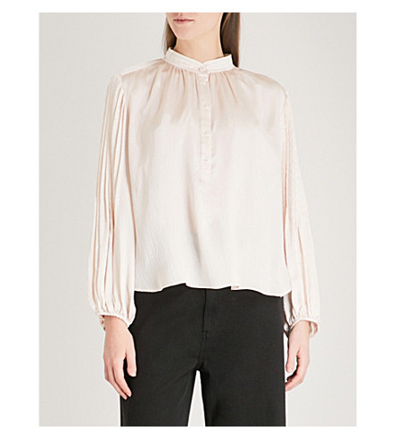 APIECE APART Bravo silk-satin blouse (Shell