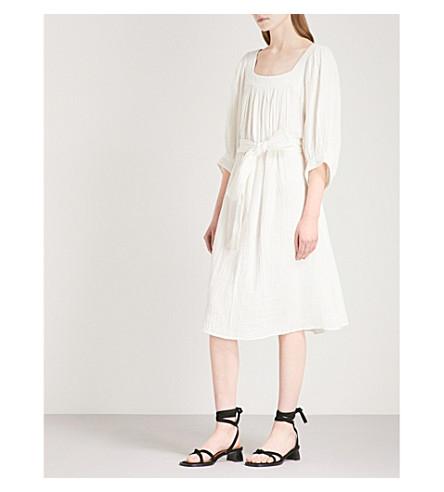 APIECE APART Campion belted cotton midi dress (Cream