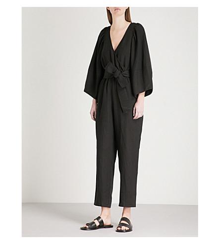 APIECE APART Meru wrap-over woven jumpsuit (Black