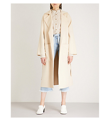 NANUSHKA Alamo wool-blend wrap coat (Double+cream