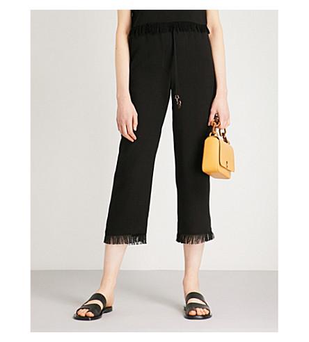 NANUSHKA Blaze straight cropped mid-rise woven trousers (Black