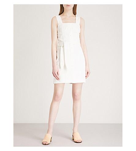 NANUSHKA Nuria belted denim mini dress (White
