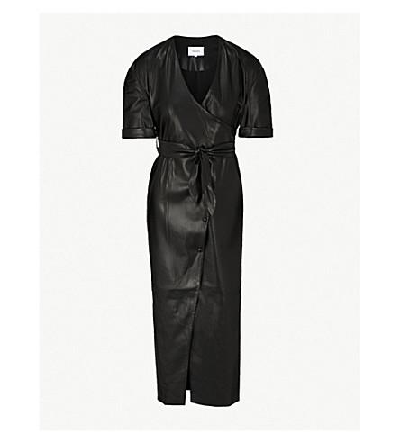 NANUSHKA Penelope faux-leather midi dress (Black