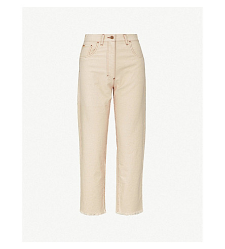 NANUSHKARupa 休闲版型高腰牛仔裤 (霜