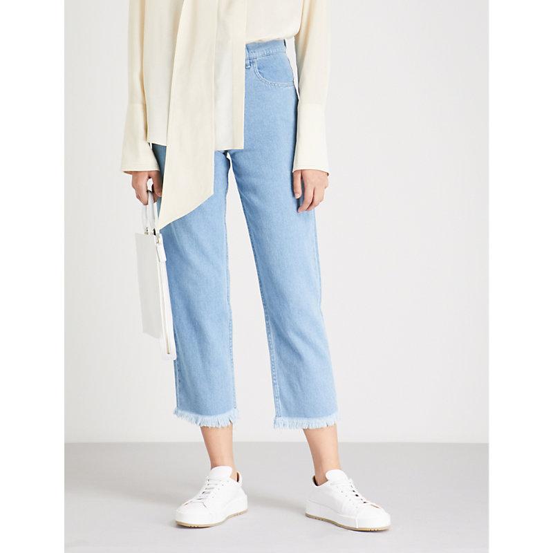NANUSHKA Rupa relaxed-fit high-rise jeans
