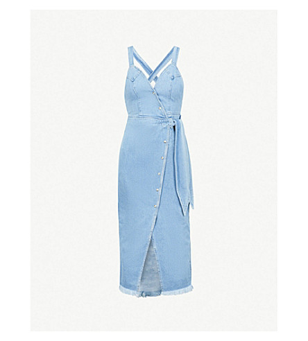 NANUSHKA Santal denim wrap dress (Washed blue