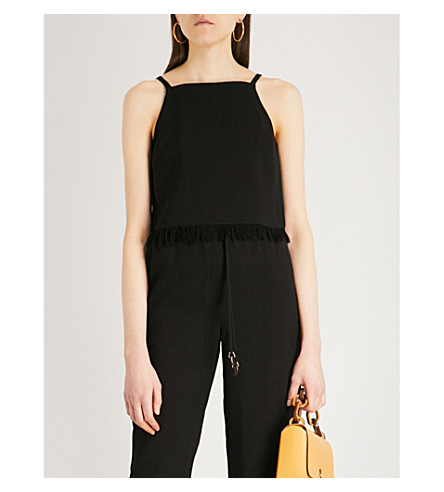 NANUSHKA Tonic woven camisole (Black