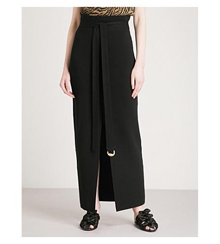 NANUSHKA Zina knitted maxi skirt (Black