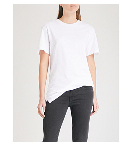 HANES X KARLA The Classic cotton T-shirt (White