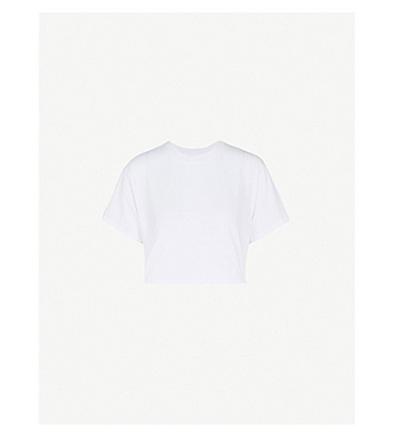 HANES X KARLA The Crop cotton T-shirt (White