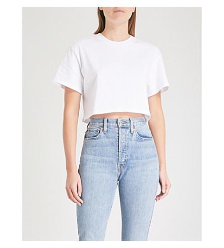 HANES X KARLA The Crop cotton T-shirt (White