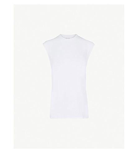 HANES X KARLA The Sleeveless cotton T-shirt (White