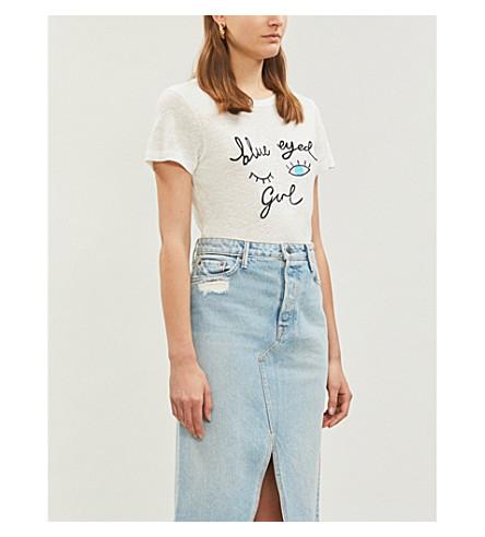 ROTTEN ROACH Blue Eyed Girl knitted T-shirt (White