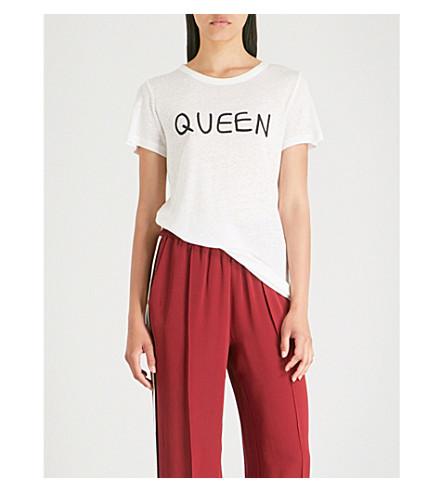 ROTTEN ROACH Queen-print knitted T-shirt (White