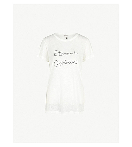 ROTTEN ROACH Eternal Optimist knitted T-shirt (White