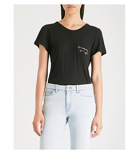 ROTTEN ROACH Jet-Lagged knitted T-shirt (Black